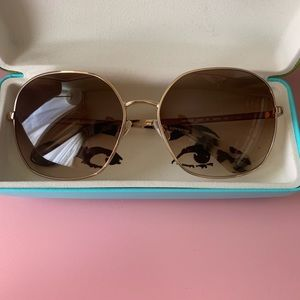 kate spade brown gradient sunglasses